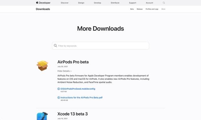 Airpods pro firmware beta