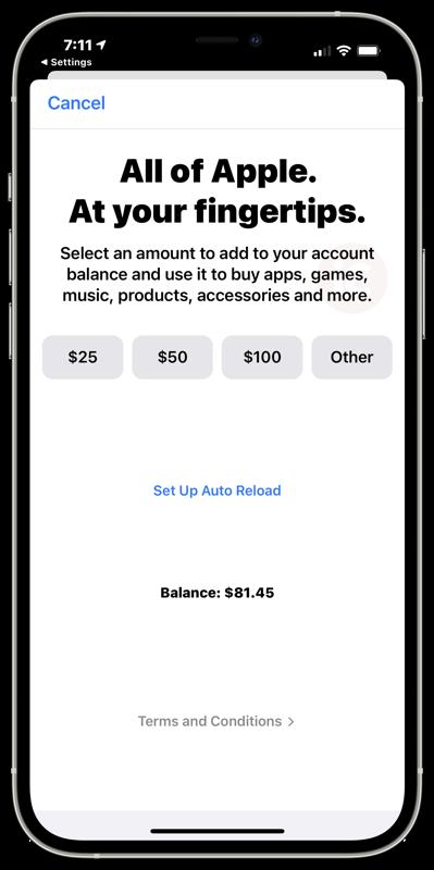 Apple universal gift card canada