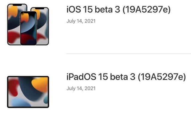 Ios 15 beta 3 download
