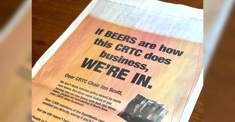 Ottawa citizen openmedia beer