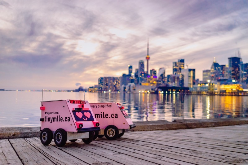 Bell Canada Bell 5G powers Tiny Mile food delivery robots in dow