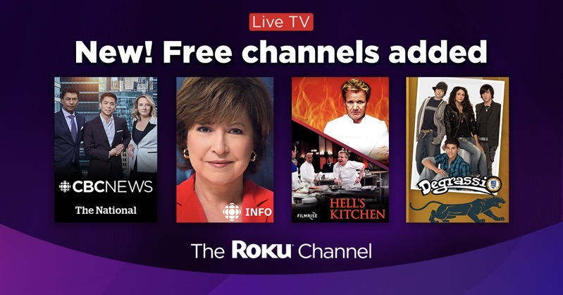 Roku channel canada live tv