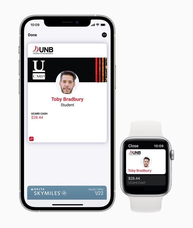 Student ID iphone apple watch