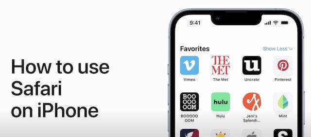 Safari on iPhone