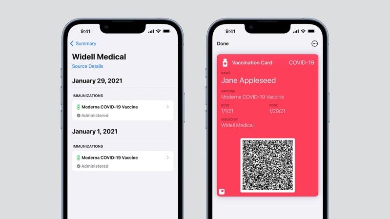 Vaccine card wallet app ios 15 1