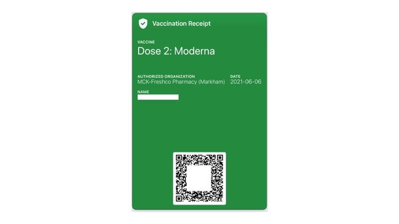 Vaccine receipt wallet app