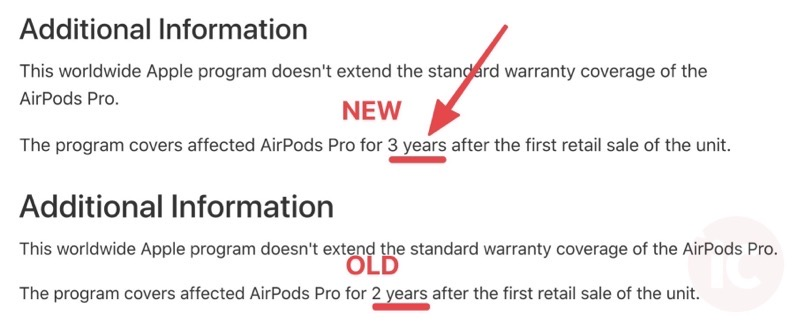 Airpods pro 3 years