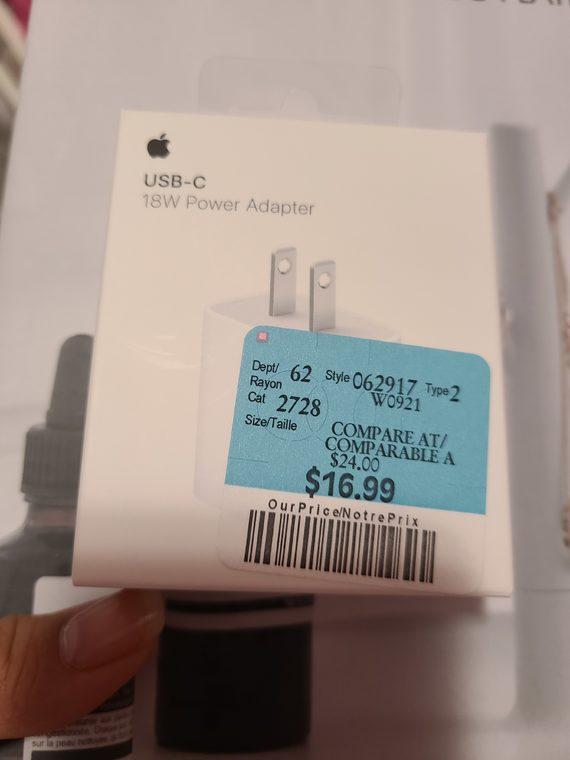Usb c 18w power adapter